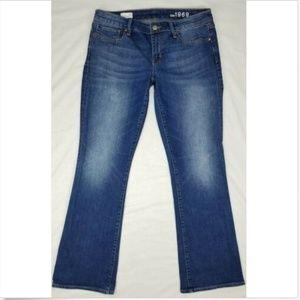 Women's Gap 1969 Sexy Boot Cut Jeans Medium Wash